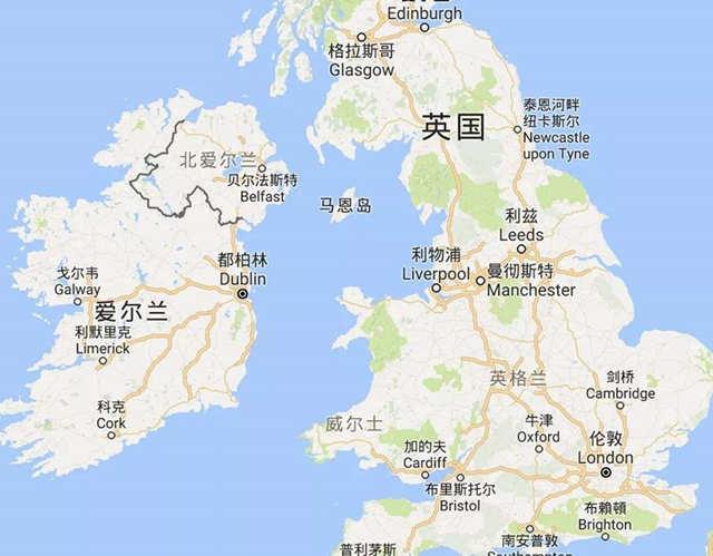 爱尔兰地图洲巡出国